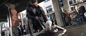 Del Spooner arresting a robot