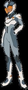 Nadia Rizavi in Garrison space suit
