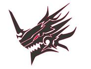 Demon Dragon Head Symbol