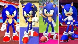 Evolution of Sonic in Mario & Sonic at the Olympic Summer Games (2008-2020)