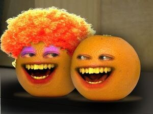 Orange and his mother