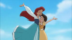 Ariel and Melody singing landbysea