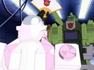 Bulkhead and Autobot Nurse.