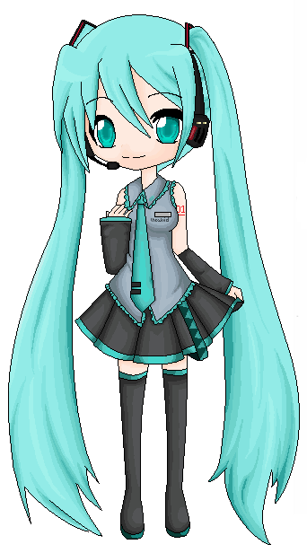 Chibi Hatsune Miku By Turkey Wang