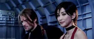 Leon Castle and Ada Wong
