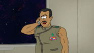 S8E06.003 Rawls Hearing About Meteors Heading Towards the Space Tree