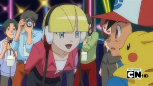 Elesa Speaks with Ash