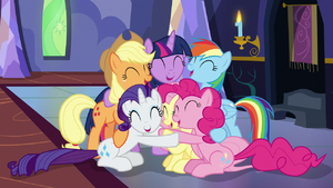 Mane Six in a group hug S7E14