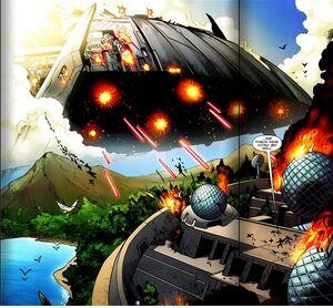 Skrull Warship (Nova Vol 3 Issue 18)