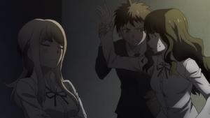 Hajime stops Sato from slapping Natsumi