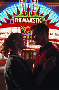 Peter with Adelle in front of Majestic