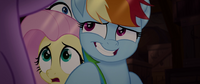 Rainbow Dash grinning with embarrassment MLPTM