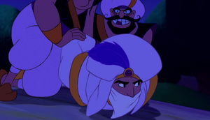 Aladdin captured by Jafar's henchmen