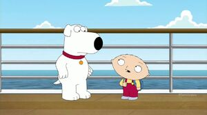 Stewie and Brian in Titanic