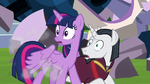 Twilight and Chancellor Neighsay in shock S8E1