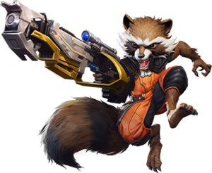 Rocket Raccoon Marvel Super War