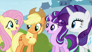 AJ, Starlight, and Rarity see Pinkie S5E26