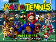 Mario Tennis 64 tittle screen