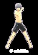 P4D Yu Narukami Swimsuits change