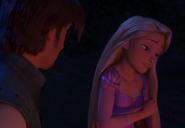 Rapunzel telling Flynn why she never left the tower