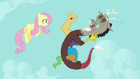 Discord and Fluttershy --you're hilarious-- S03E10