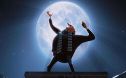 Gru with a moon