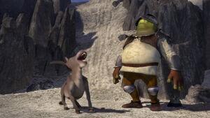 Shrek and Donkey laughing