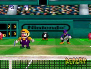 Mario Tennis 64 Wario and Waluigi