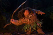 Maui twirling his hook