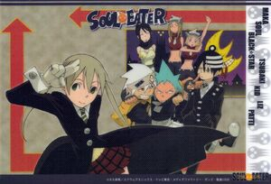 Yande.re 83944 sample black star death the kid elizabeth thompson maka albarn nakatsukasa tsubaki paper texture patricia thompson soul eater soul eater (character)