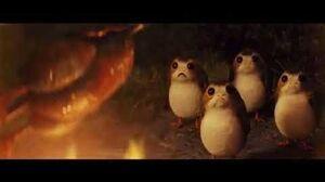 Chewbacca Eats A Porg Scene - The Last Jedi (1080p)