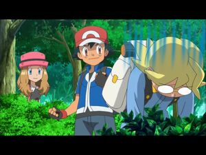 Clemont's bummer with Ash and Serena