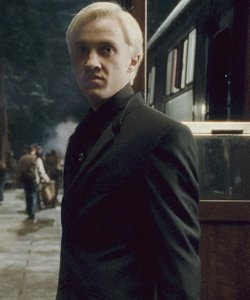 Draco gets off the Hogwarts Express