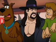 The Undertaker with Scooby-Doo and Shaggy Rogers