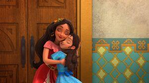 Elana and Isabel hugging