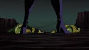 Black Widow Through Legs