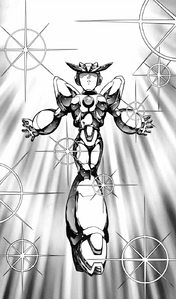 Mega Man X - Mega Man X wearing Gold Armor as seen in the manga
