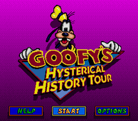 Goofy's Historical History Tour Title Screen