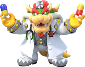 Dr Bowser - Dr Mario World