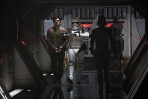 Finn and Poe escape