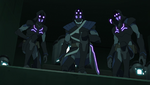 Keith, Kolivan and Regris in the Mission.