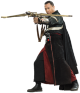Chirrut Imwe with a Light Bow