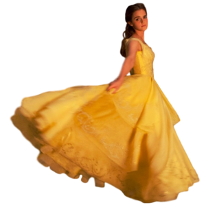 Emma watson belle full body transparent by camo flauge-daolb69