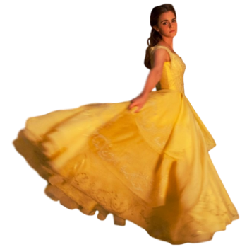 Emma watson belle full body transparent by camo flauge-daolb69