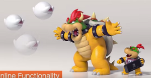 Bowser scaring the Boos to defend his son