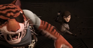 Karai Betrays Tiger Claw to save Turtles