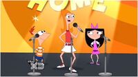 Phineas, Isabella, and Candace singing SBTY 1