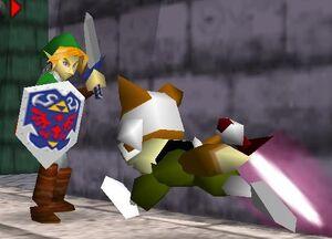 SSB64 Fox VS Link Sword to Sword