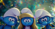 Hefty smurfette and brainy look at clumsy got hurt