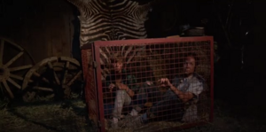 Ted and Susan in a cage